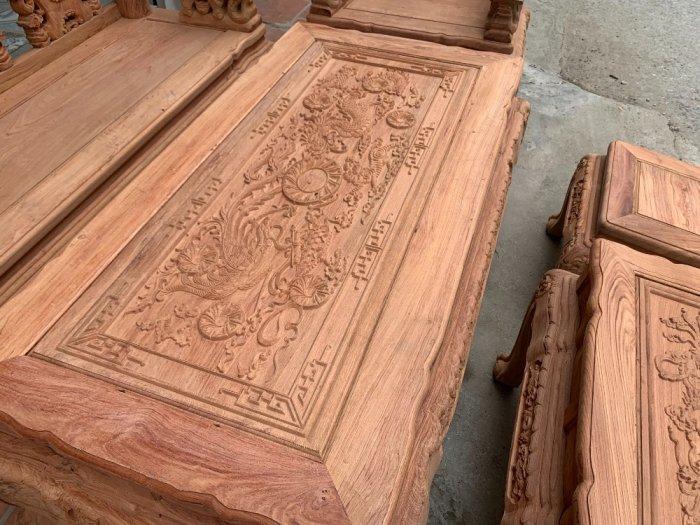 Bộ bàn ghế minh quốc voi ma mút gỗ hương đá siêu víp7