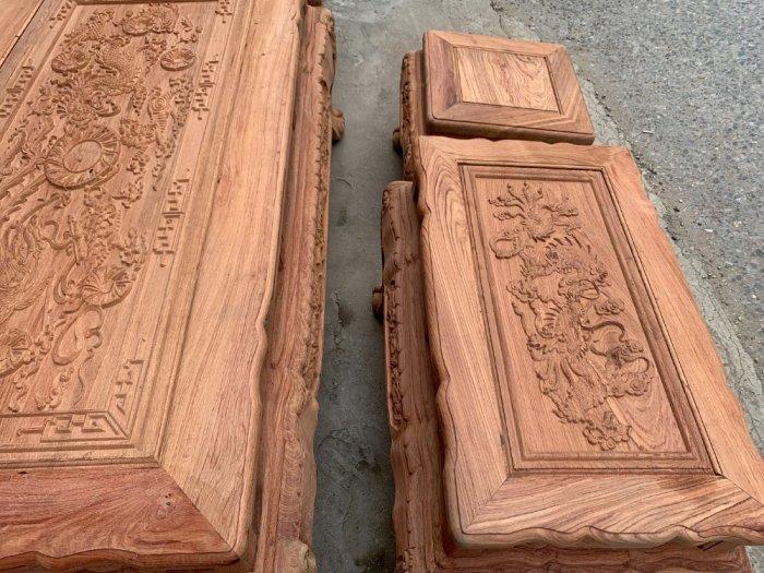 Bộ bàn ghế minh quốc voi ma mút gỗ hương đá siêu víp6