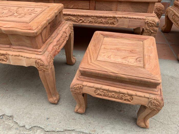 Bộ bàn ghế minh quốc voi ma mút gỗ hương đá siêu víp5