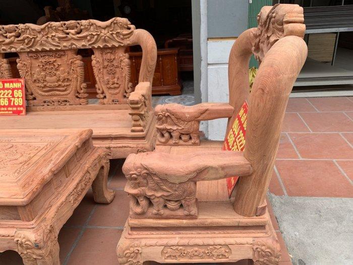 Bộ bàn ghế minh quốc voi ma mút gỗ hương đá siêu víp4
