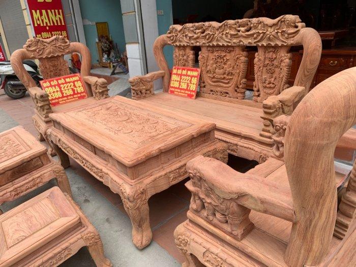 Bộ bàn ghế minh quốc voi ma mút gỗ hương đá siêu víp3