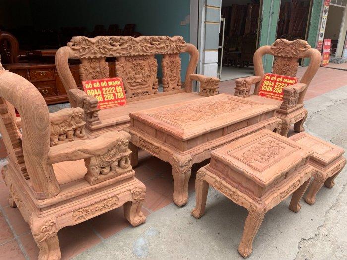 Bộ bàn ghế minh quốc voi ma mút gỗ hương đá siêu víp0