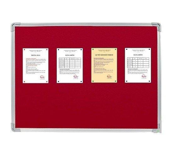 Bảng ghim, Bảng ghim nỉ Kích thước 40x60cm (màu đỏ)3