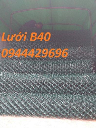 Lưới b40 bọc nhựa  PVC làm sân tennis hàng sẵn kho giá tốt0