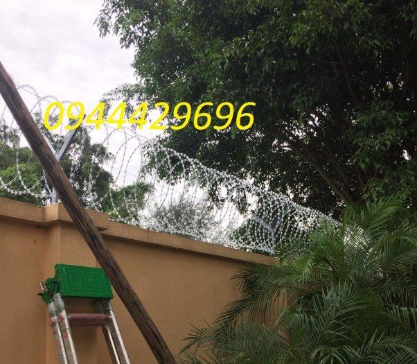 Dây kẽm lam - dây thép gai hình dao Đk 6012