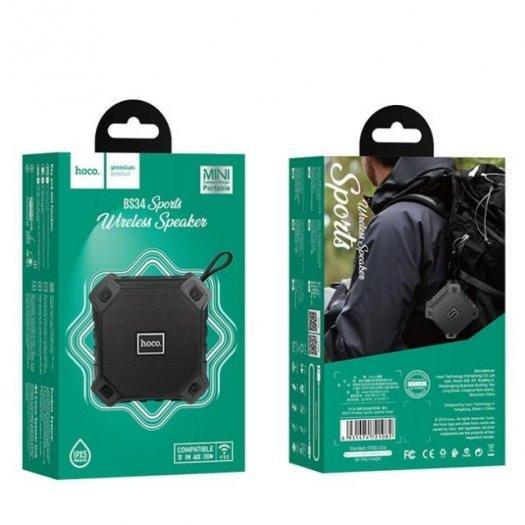 Loa Thể Thao Bluetooth Hoco BS34 Chống Nước ,hỗ trợ thẻ nhớ, cổng USB và cổng âm thanh AUX 3.5mm1