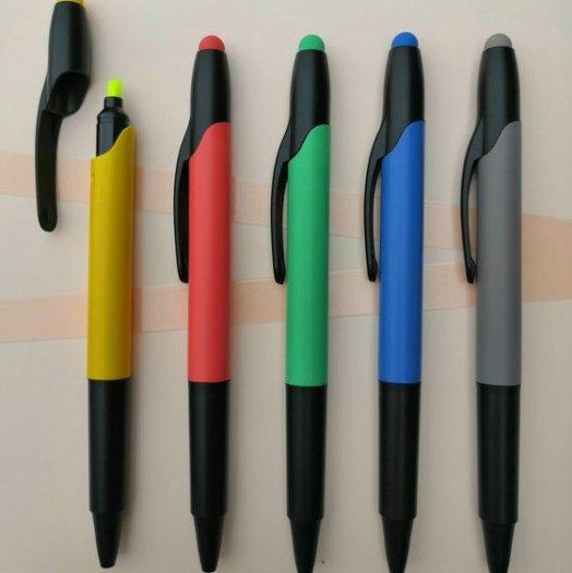 Bút bi có đầu highlight dạ quang in logo9