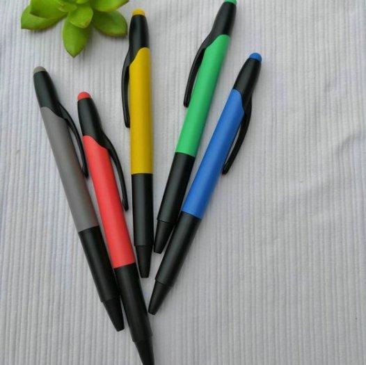 Bút bi có đầu highlight dạ quang in logo7