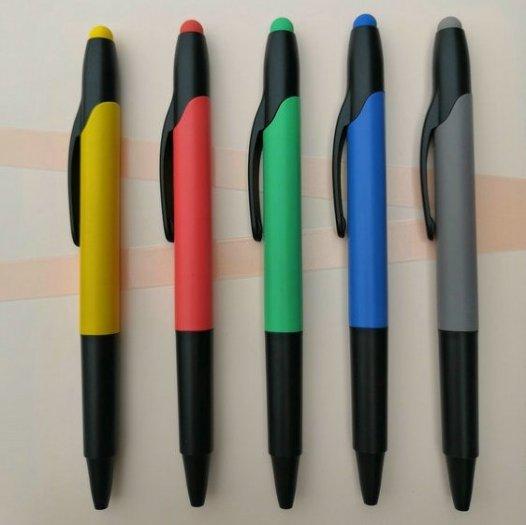 Bút bi có đầu highlight dạ quang in logo4