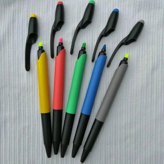 Bút bi tích hợp bút highlight dạ quang tiện lợi8