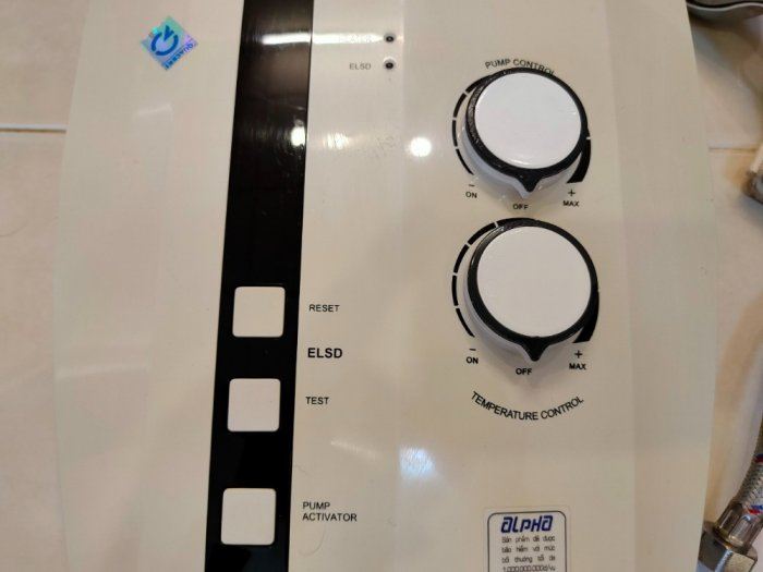 Máy tắm nước nóng trực tiếp có bơm & không bơm .4