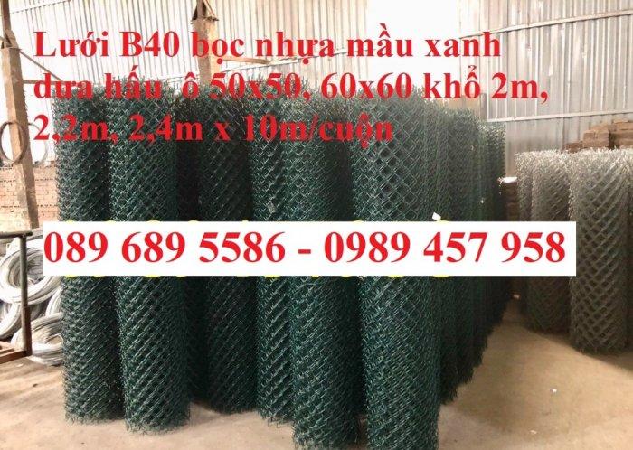 Lưới b40 bọc nhựa khổ 2,4m mầu xanh và mầu ghi, Lưới làm sân bóng đá, Lưới sân tennis14