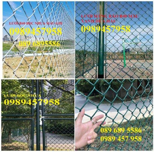 Lưới b40 bọc nhựa khổ 2,4m mầu xanh và mầu ghi, Lưới làm sân bóng đá, Lưới sân tennis13