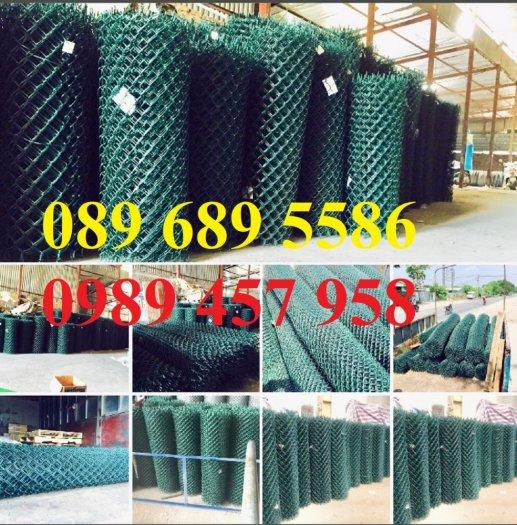Lưới b40 bọc nhựa khổ 2,4m mầu xanh và mầu ghi, Lưới làm sân bóng đá, Lưới sân tennis5