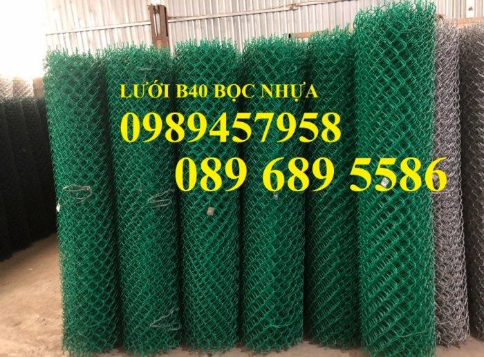 Lưới b40 bọc nhựa khổ 2,4m mầu xanh và mầu ghi, Lưới làm sân bóng đá, Lưới sân tennis4