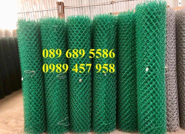 Lưới b40 bọc nhựa khổ 2,4m mầu xanh và mầu ghi, Lưới làm sân bóng đá, Lưới sân tennis3