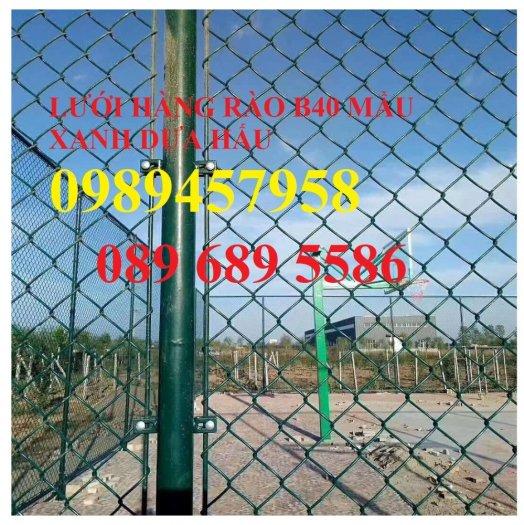 Lưới b40 bọc nhựa khổ 2,4m mầu xanh và mầu ghi, Lưới làm sân bóng đá, Lưới sân tennis2