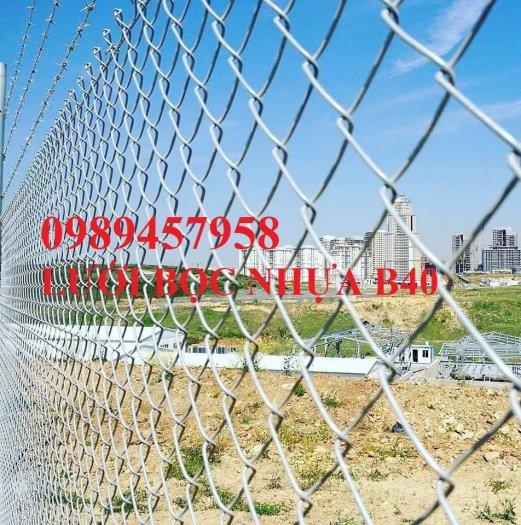 Lưới thép làm lồng nuôi cá, Lưới b40 bọc nhựa làm hàng rào4