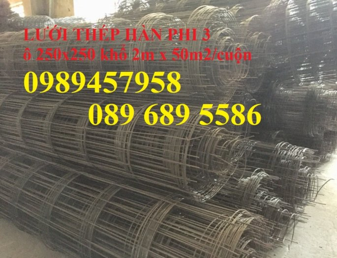 Bán Lưới đổ bê tông phi 3 chống thấm và chống nứt , Lưới thép hàn phi 4 50x50, 100x1001