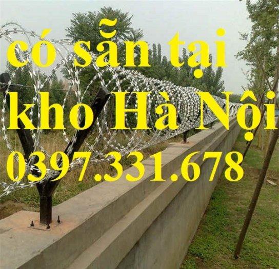 Thép gai hình dao, thép tường rào, thép gai mạ kẽm DK 35cm hàng sẵn kho tại Hà Nội4