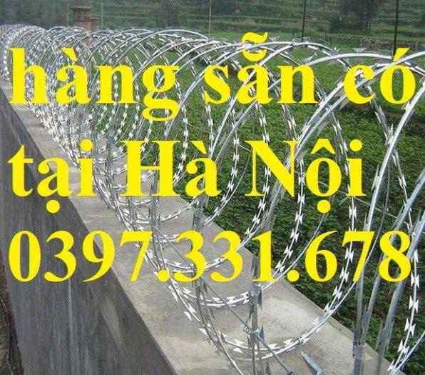 Thép gai hình dao, thép tường rào, thép gai mạ kẽm DK 35cm hàng sẵn kho tại Hà Nội1