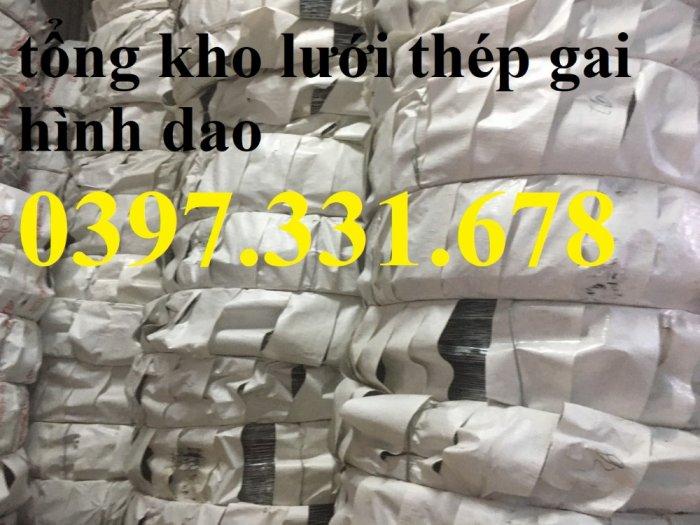 Thép gai hình dao, thép tường rào, thép gai mạ kẽm DK 35cm hàng sẵn kho tại Hà Nội0