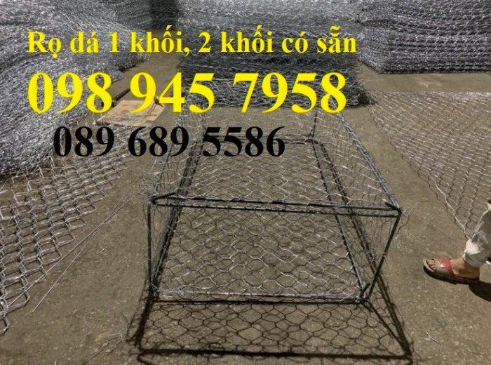 Địa chỉ làm Rọ đá chống sạt lở 2x1x1, 2x1x0,5, Rọ thép kè đường, Rọ thép bọc nhựa 2x1x0,510