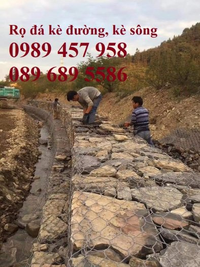 Địa chỉ làm Rọ đá chống sạt lở 2x1x1, 2x1x0,5, Rọ thép kè đường, Rọ thép bọc nhựa 2x1x0,51