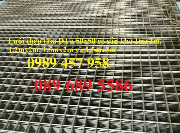 Nơi bán lưới thép hàn phi 4 ô 250x250, D4 a 200x200, A4 200x200, Sắt thép đổ sàn bê tông0