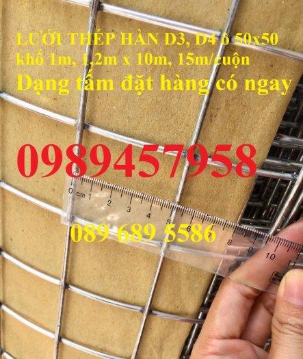 Lưới thép hàn dây 1ly, Lưới mạ kẽm 2ly, Lưới làm giàn lan 3ly và 4ly ô 50x50, 100x1003