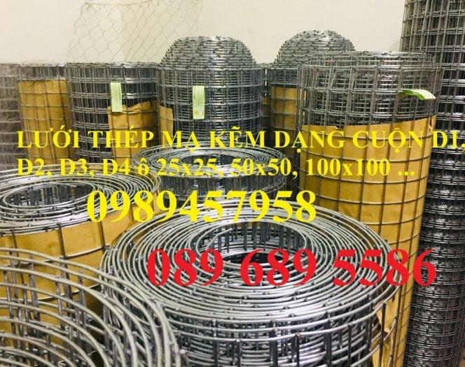 Lưới thép hàn dây 1ly, Lưới mạ kẽm 2ly, Lưới làm giàn lan 3ly và 4ly ô 50x50, 100x1002