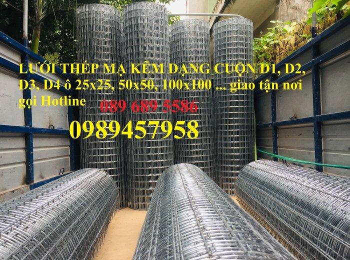 Lưới thép hàn dây 1ly, Lưới mạ kẽm 2ly, Lưới làm giàn lan 3ly và 4ly ô 50x50, 100x1001