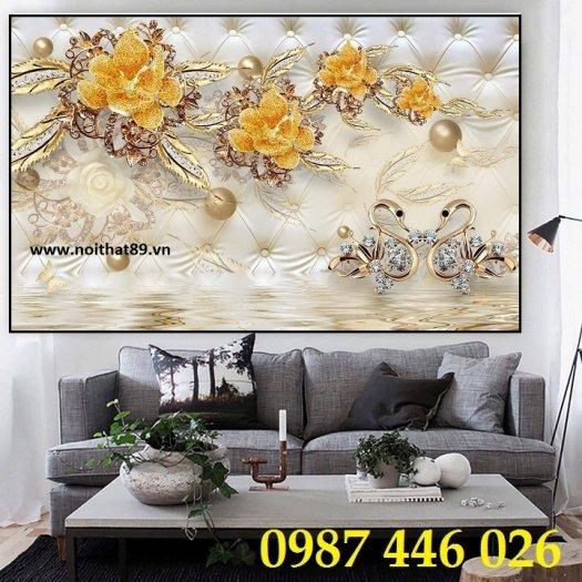 Tranh 3d, gạch ốp tường, tranh trang trí đẹp HP04550