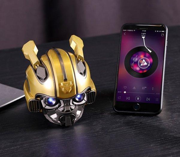 Loa Bluetooth Kiểu Dáng Transformers Bumblebee, Kiêm Đài FM, Âm Thanh Siêu Trầm Hay BH 3T0