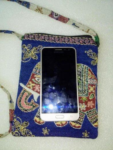 Túi đeo điện thoại vải thổ cẩm hình voi2