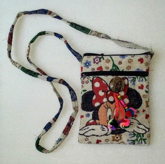 Túi đeo điện thoại vải thổ cẩm4