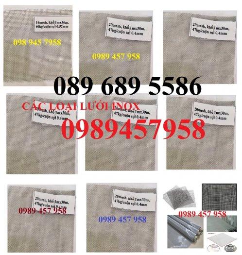 Lưới inox sấy thực phẩm, Lưới chống muỗi, Lưới lọc thực phẩm inox316, inox 2011