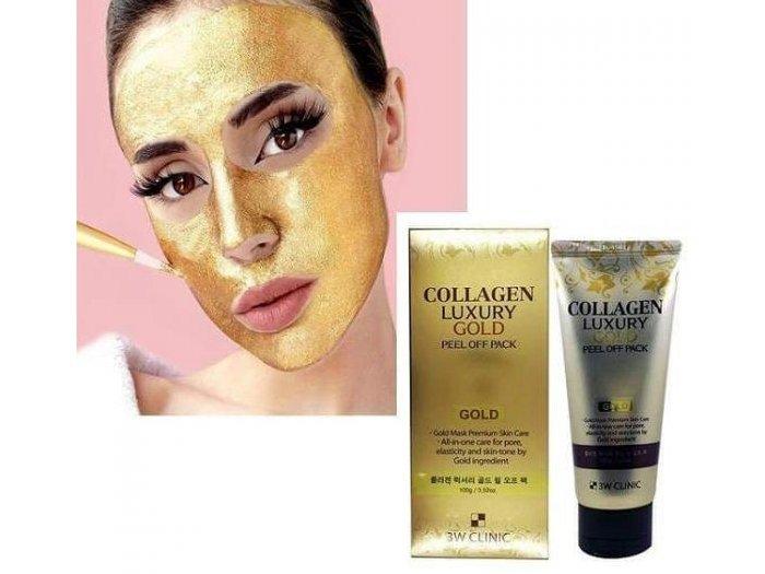Mặt nạ vàng 3W Clinic Collagen Luxury0