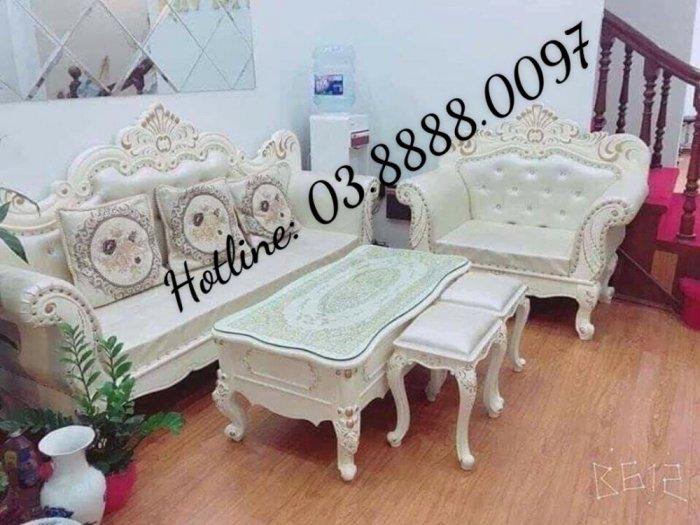 Sofa cổ điển - bộ bàn ghế sofa tân cổ điển cao cấp Q1 Q2 Q7 Q97