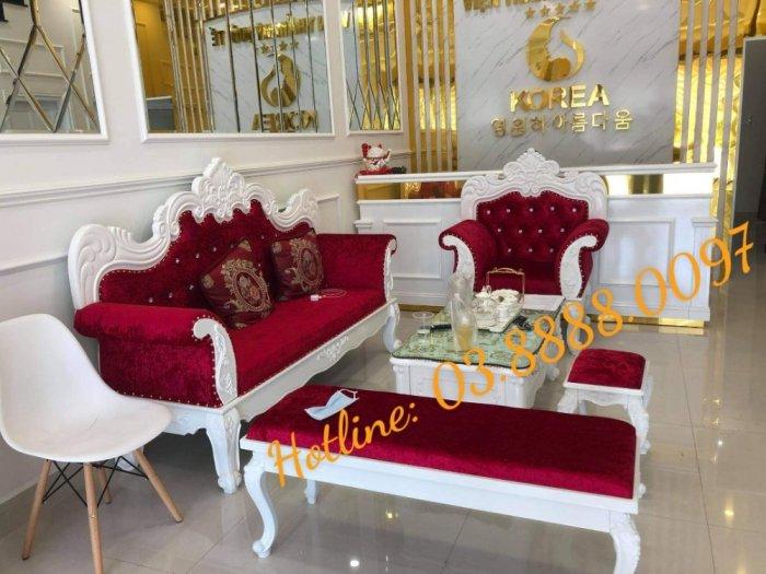 Sofa cổ điển - bộ bàn ghế sofa tân cổ điển cao cấp Q1 Q2 Q7 Q94