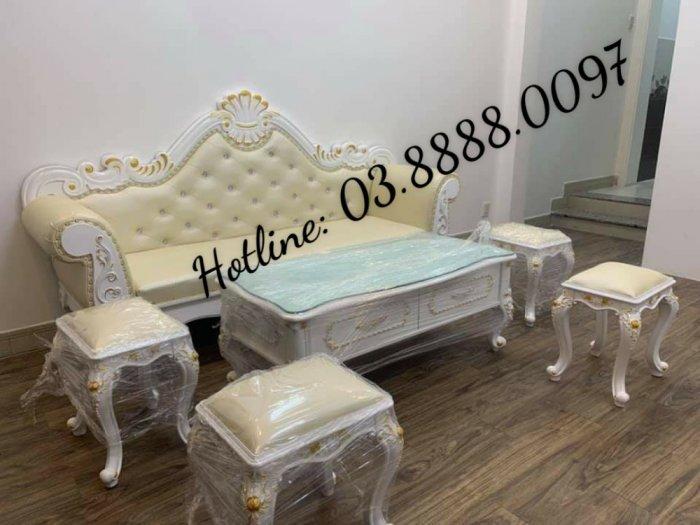 Sofa cổ điển - bộ bàn ghế sofa tân cổ điển cao cấp Q1 Q2 Q7 Q93