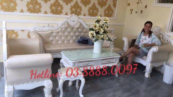 Sofa cổ điển - bộ bàn ghế sofa tân cổ điển cao cấp Q1 Q2 Q7 Q91