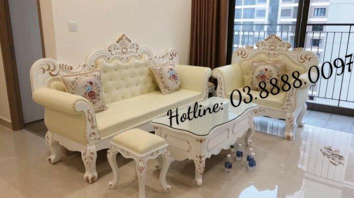 Sofa cổ điển - bộ bàn ghế sofa tân cổ điển cao cấp Q1 Q2 Q7 Q90