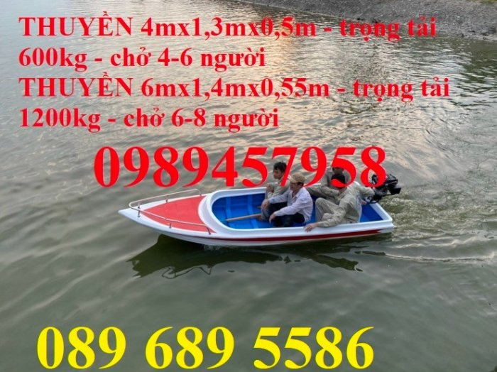 Thuyền composite  chở 4,6, 8, 10 người giá tốt,2