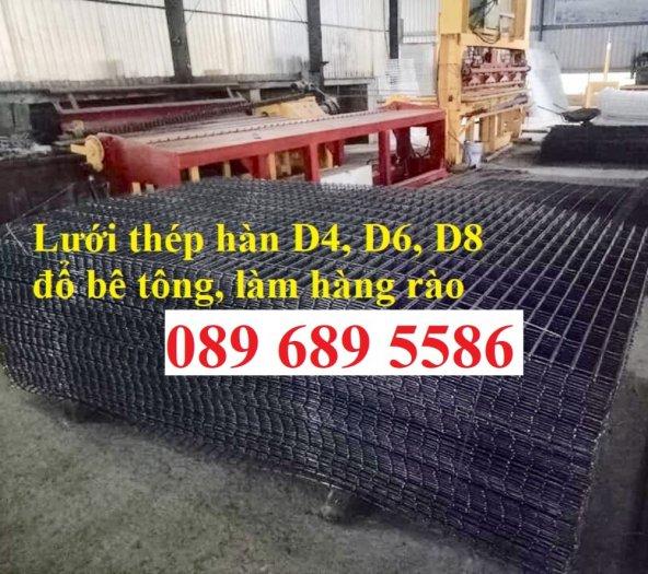 Thép phi 4 đổ sàn bê tông ô 200x200, D4 a 50x50 khổ 1,2mx2m, A4 ô 150x1502