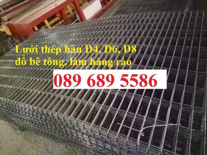 Thép phi 4 đổ sàn bê tông ô 200x200, D4 a 50x50 khổ 1,2mx2m, A4 ô 150x1501