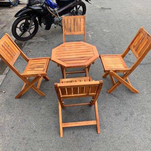 Bộ bàn ghế gỗ xếp cao cấp Ak0010