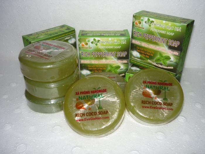 Sản xuất xà bông bạc hà dầu dừa nguyên chất Rich Peppermint Soap , cung cấp xà bông organic sỉ Gọi 0975603004 - Mr Sơn