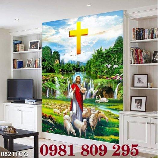 Gạch tranh - công giáo khổ đứng- gạch tranh 3d3