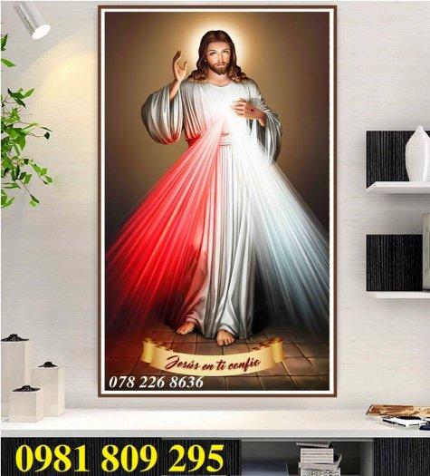Gạch tranh - công giáo khổ đứng- gạch tranh 3d1
